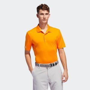 NWOT men's adidas golf polo shirt medium orange